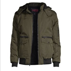 Yoki boys bomber jacket with detachable hood